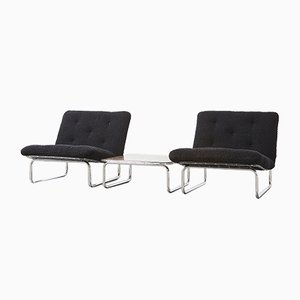 656 Lounge Chairs and Coffee Table by Kho Liang Ie for Artifort, 1970, Set of 3