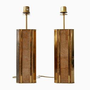 Mid-Century Monumental Table Lamps from Vereinigte Werkstätten, Germany, Set of 2