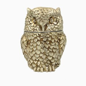 Silverplate Owl Ice Bucket by Mauro Manetti, Italy, 1970s
