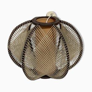 Lámpara de suspensión Wabi Sabi de cuerda, años 70