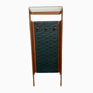 Garderobe mit Rücken aus geflochtenem Kunstleder, 1960er