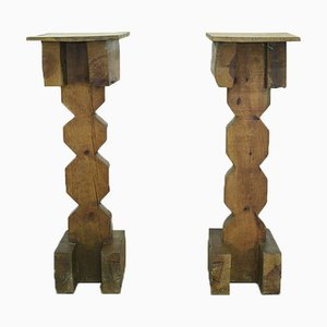 Brutalist Pedestals, 1960s, Set of 2