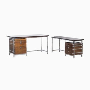 Desk by Jules Wabbes for Le Mobilier Universel, Set of 2