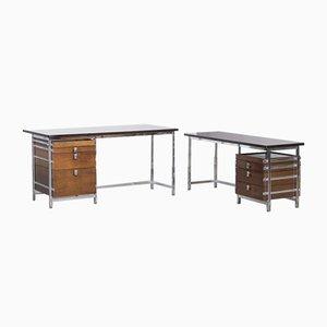 Schreibtisch von Jules Wabbes für Le Mobilier Universel, 2er Set