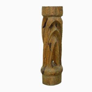 Pedestal de madera con forma orgánica, años 70