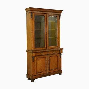 Victorian Walnut Glazed Door Cabinet