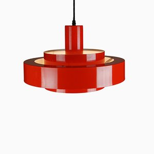 Red Equator Pendant by Jo Hammerborg for Fog & Mørup