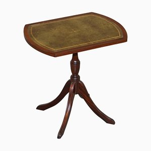 Vintage Hardwood & Green Leather Tripod Side Table by Bevan Funnell