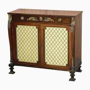 Regency Style Egyptian Revival Hardwood & Ormolu-Mounted Sideboard