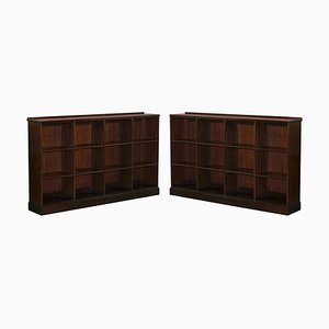 Large Hardwood Library Bookcases from Whytock & Reid Edinburgh, Set of 2