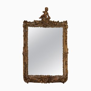 18th Century Ornately Carved Frame Wall Mirror