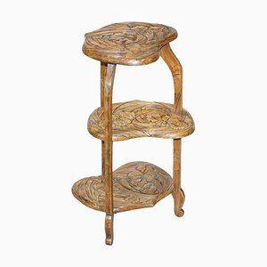 Japanese Carved Side Table by Y Hayashi for Libertys London, 1905