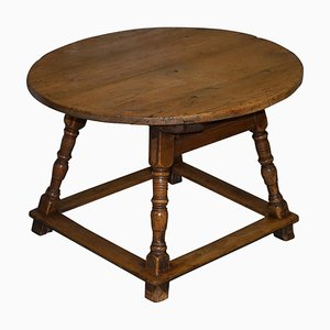 Country House Pine Round Dining Table, 1780s