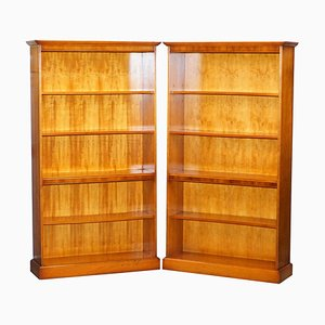 Bookcases with Height Adjustable Shelves, Set of 2