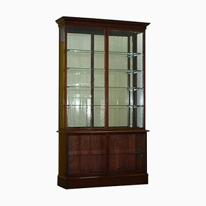 Viktorianischer Kurzwarenladen-Schrank mit verglasten Türen