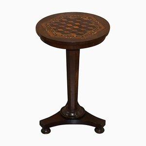 Viktorianischer Beistelltisch aus Hartholz mit Intarsie aus Holz mit Intarsien