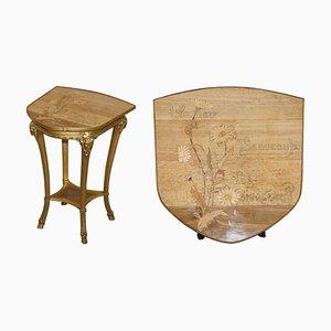 Wooden Un Peu Beaucoup Passionnément Table by Emile Galle
