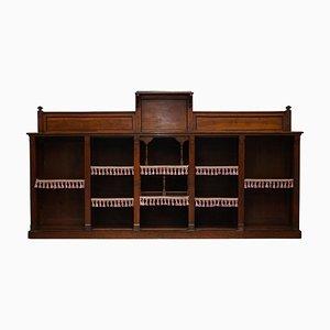Victorian Gothic Pugin Style Open Bookcase in Walnut