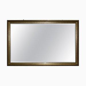 Großer vergoldeter Wandspiegel mit abgeschrägtem Glas
