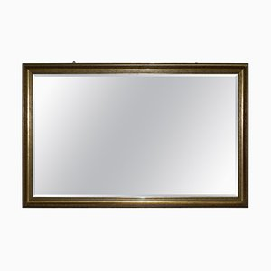 Large Giltwood Overmantel Wall Mirror with Beveled Glass