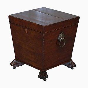 Regency Hardwood Wine Cooler with Lion's Feet, 1810s