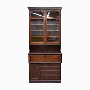 Library Bookcase and Secretaire Desk from Lambs of Manchester, 1840