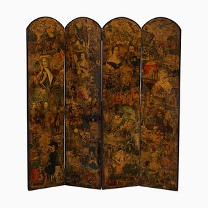 19th-20th Century Four-Panel Folding Screen