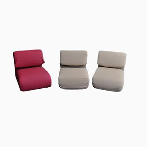 1500 Armless Seats by Etienne-Henri Martin for Thevenin & Mayet, 1970s, Set of 3