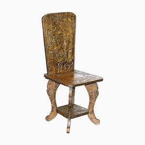 Qing Dynasty Stuhl mit floraler Schnitzerei von Liberty of London