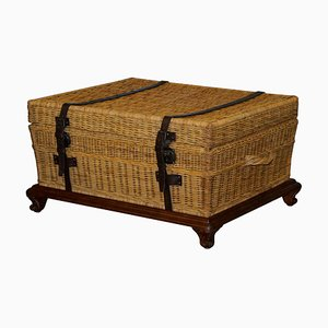 Large Wicker Marseilles Trunk or Coffee Table with Internal Storage from Ralph Lauren