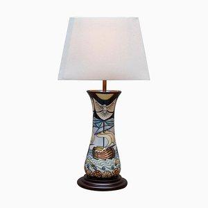 Handbemalte Winds of Change Tischlampe aus Keramik von Moorcroft