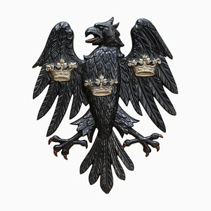 Bronze Eagle Emblem in Metal from Barclays Bank