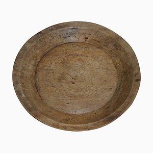 Large Carved Solid Walnut Fruit Bowl