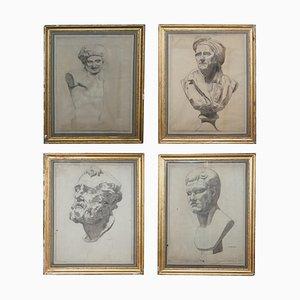 Italian 19th Century Sketches by F Mazzoli, Set of 4