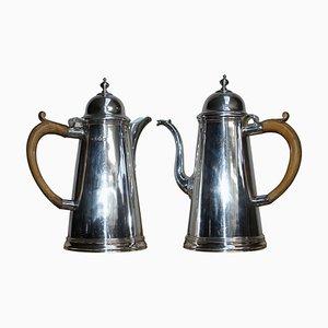 Cafetières Britannia en Argent Sterling de Harry Freeman, 1912, Set de 2