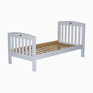 Weiß lackiertes Kiefernholz Einzelbett für Kinder
