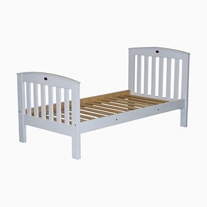 White Painted Pine Single Childrens Bed Frame