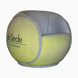DS-9100/01 Tennis Ball Swivel Armchair from de Sede, 1985