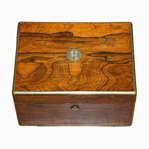 William IV Militär Campaign Vanity Box aus Holz von Cawston, 1836