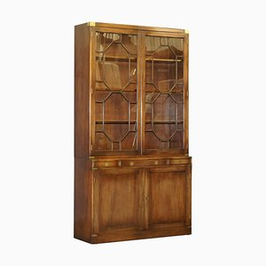 Military Campaign Astral Glazed Library Bookcase from Bevan Funnell