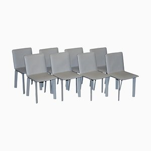 Leather La Chaise Sellier Dining Chairs from Hermes Paris, Set of 8