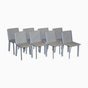 Leder La Chaise Sellier Esszimmerstühle von Hermes Paris, 8er Set