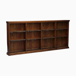 Large Victorian Oak & Hardwood Bookcase