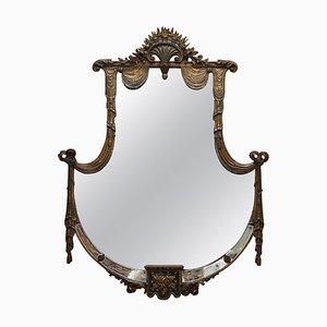 Großer Spiegel mit vergoldetem Holzrahmen, spätes 19. Jh