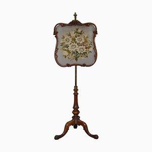 Höhenverstellbarer Kaminschirm aus Nussholz von Gillows of Lancaster, 1850er