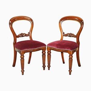 Gestanzte Medallion Esszimmerstühle aus Hartholz von Frank Hudson & Sons für Harrods, 2er Set