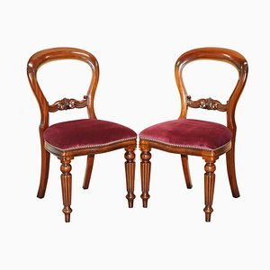 Stamped Medallion Dining Chairs in Hardwood by Frank Hudson & Sons for Harrods, Set of 2