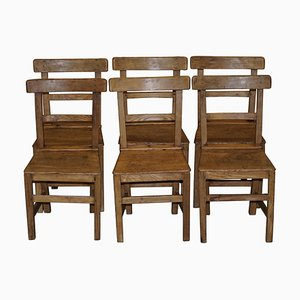 Chaises de Salle à Manger Victoriennes en Orme et Chêne, Set de 6
