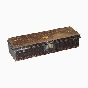 African Campaign Military Metal Chest