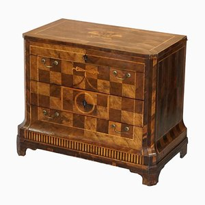 Continental Parquetry Marquetry Inlaid Commode, 1780s
